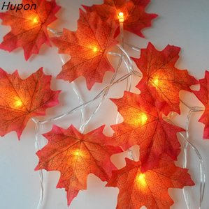 1.5M 3M 20 Lights Maple Leaves Garland Led Fairy Lights for Christmas Decoration Autumn String Light Festive DIY Halloween Decor
