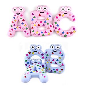 2020 al por mayor del bebé de silicona libre de BPA Teethers Food Grade ABC barra minúscula dentición collar regalos de la ducha del bebé de dibujos animados Teether Kid juguetes para la dentición