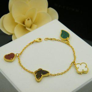 2020 моды обаятельных оболочек ювелирных изделий / агат / бирюзовый / перламутр четыре листа цветок браслета для женщин лучшего подарка бесплатной доставки