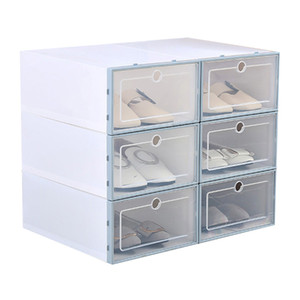 1 PC Thickened Flip Shoes Transparent Drawer Case Plastic Shoe Boxes Stackable Box storage box shoe storage organizer FPing