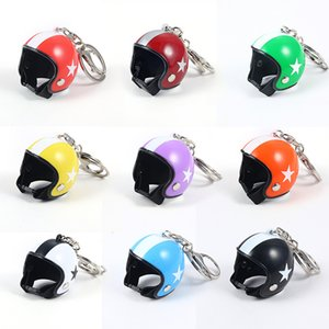 Trendy Motorcycle Helmets Chain for Women Men Cute Safety Helmet Car Keychain Bags Hot Key Ring Gift Jewelry Accessories