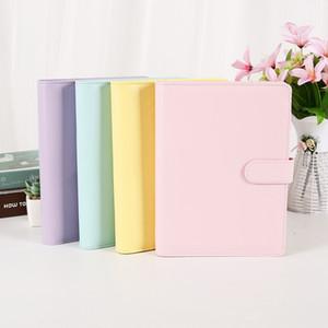 Notebook in pelle A6 PU Binder fogli staccabili notebook ricaricabile 6 Raccoglitore ad anelli per la A6 Filler Binder Paper Cover con fibbia magnetica chiusura