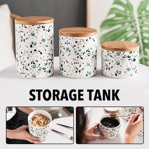 Творческое Nordic Style Ceramic Sealed Jar хранения Организация Кухня специй Кофе Бин Candy Jar домашнего хранения