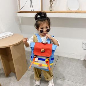 Ins School Girl Bag Crianças Boy Mochilas bonito de um ombro saco macio do jardim de infância do bebê sacos