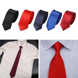 Homens Pretied Ready Made cor sólida Zipper Laço do negócio ajustável gravata Formal