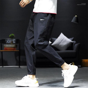 Pants Fashion Mens Ankle Banded Pants Designer Hip Hop Teenager Pencil Pants Hight Street Mens Jogger
