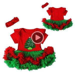 Weihnachtsbaby-Strampler Babys Kleid Bodysuit La 2 Sätze New Born Herbst Bebe Kleidung Säuglingskleidung Y190515