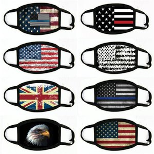 Lack Masks American Election Supplies Dustproof Print Mask Universal For Men Women American Flag Mask Party Masks#896