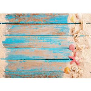 Фон материал пляж песок деревянные стены погибли фон виниловые ткани PO стрельбы фона для детских детей свадебный студия