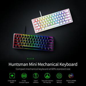 Teclado Razer Huntsman Mini mecânica Clicky Optical Mudar 61 teclas Wired RGB teclado para PC portátil Balck / Silver