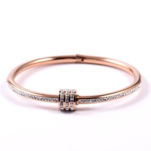 Crystal Stainless Steel Gold Elegant Women Bracelet Ancient Statement Jewelry Wholesale Dropshipped Charming Love
