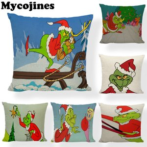 High Quality Christmas Pillowcase Tree Hat Dog Deer Living Room Sofa Bedroom Car Seat Decoration Cushion Cover 45*45CM