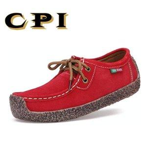 TÜFE Moda Kadın Casual deri ayakkabı Vahşi Dantel-up Kadınlar Flats Sıcak Rahat Özlü Kadın Ayakkabı Nefes Kadın NX-017