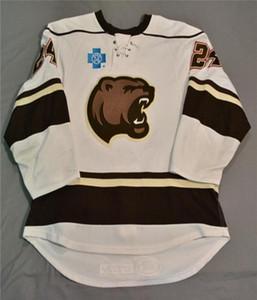 2020 Vintage Hershey Bears Christan Djoos Chris Brown Hokeyi Jersey Nakış Dikişli özelleştirme herhangi bir sayı ve isim Formalar Hokeyi Jersey