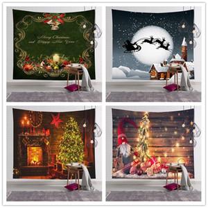 24 Styles Christmas Tapestry Santa Tapestry Wall Hanging Blankets Polyester Bohemian Mandala Shawl Bath Towel Hippie Throw Yoga Mat Carpet