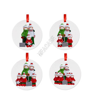 Cheap Christmas Ornament Xmas Tree Pendant with PVC Snowman Face Mask Handing Toys Party Stay at Home Social Distancing D92504
