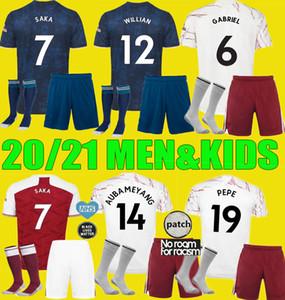 20 21 PEPE SAKA WILLIAN NICOLAS maillot de foot Arsen Hommes enfants Kits 2020 2021 CEBALLOS Guendouzi SOKRATIS TIERNEY le football Uniformes set chemise