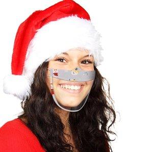 Mit sichtbarem klaren Fenster Ohne Boop Maske Lippenlese transparente Masken Weihnachtsgesichtsmaske Lippe taub-stummgeschmäppt beeinträchtigter taub Mundabdeckung Heiß E91601