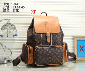 2020 men Fashion backpack women good quality leather Shoulder bag Messenger boy Belt bag shoulder Crossbody school bag High capacity Travel
