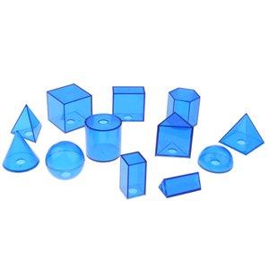 12 Пакет Геометрическая Solids Набор для детей Preachool обучения Образование Монтессори игрушки