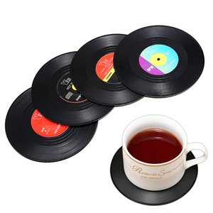 2 4 6* Sublimation Coaster Drinks Table Cup Mat Home Decor CD Record Spinning Mats Table Coasters Decoration Kitchen Tools