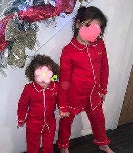 Дети Дети Пижама 100 хлопок 2 шт набор осень зима с длинным рукавом пижамы пижамы Рождество девушка Мальчик Pajama наборы