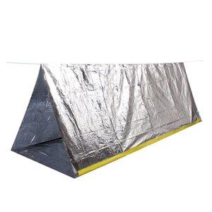 Çadırlar ve Barınaklar Rölyef Açık Termal Yalıtım Çadırı Seyahat Kamp Sığınma Acil Sporları - Gümüş