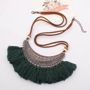 Tassel Necklace Fashion Jewelry Big Crescent Ring Accessories Bohemian Tassel Accessories