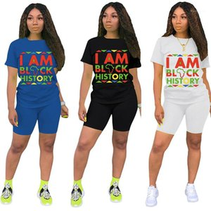 Kol Tops ve Slim Biker Şort Casual Kadınlar Jogger Spor 2 Adet Set Kürsü Desen Tasarımcısı Eşofman Yaz O Boyun Kısa Womens