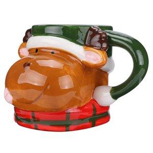 1Pc Рождество Кружка моды Прекрасный Нежный Олени Рождество Кружка Олени Кубок Керамический Молочко для