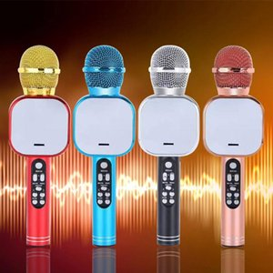 Haut-parleur Bluetooth rechargeable Plug and Play Gift sans fil Microphone Karaoke Accueil KTV Portable capacitance portable Anniversaire