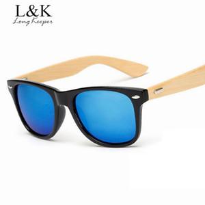 Uzun Keeper Classic Ahşap Bambu Arms Güneş gözlüğü Erkekler Ahşap Güneş Kadınlar Marka Tasarım Eyewares Yüksek Kalite UV 400 1501G için