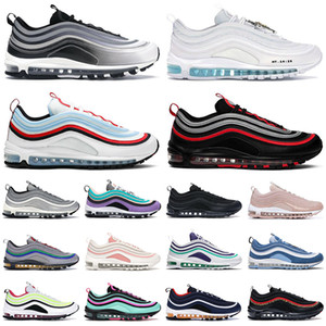 nike air max airmax 97 shoes hommes femmes des chaussures de course Triple blanc noir Sean Wotherspoon South Beach Light Blue 97s hommes formateurs baskets de sport en plein air