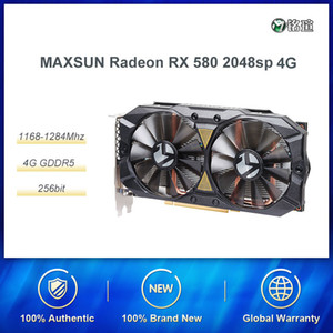 MAXSUN MS-RX580 2048SP 4G D5 256bit GDDR5 AMD Desktop Graphics Card HDMI PCI-E For PUBG GTA5 Gamers High-End Compared With RX570