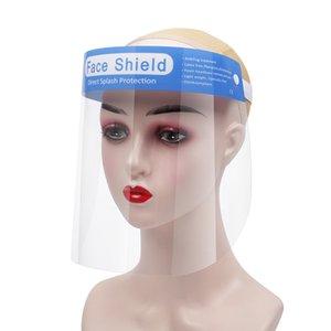 Rosto PET escudo anti-fog Isolamento Máscara Protetora completa Máscara Limpar proteção contra respingos Gotas Head Cover 500pcs Máscaras Designer CCA12530