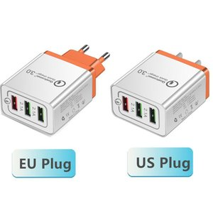 Qc 3 .0 Wall Charger 3 Ports Travel Adapter Quick Charge Multi-USB-Telefon-Adapter Eu Us tragbare Schnell-Ladegerät für Smartphone Lg