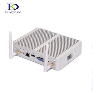 Kingdel безвентиляторный настольный компьютер Mini PC Intel N3150 с 8 Гб RAM 128GB SSD Dual Lan Dual HDMI VGA Бесплатный Wi-Fi