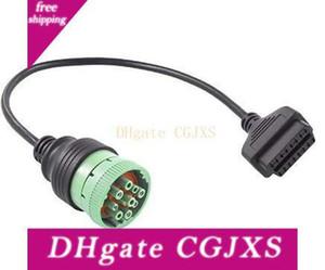 J1939 9 Pin için OBD2 Adaptör Kablo Sae J1939 Tip 2 Yeşil Deutsch Bağlayıcı Kadın için 16 Pin OBDII Kadın Konnektör Kablo İçin Kamyon Diagnosti