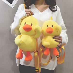 Ente Puppen-Mode Unisex Yerllow Ente-Like Plüsch Umhängetaschen Weird-Beutel-Rucksack-Paket Mädchen Junge Puppe Tasche