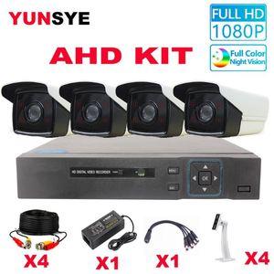 YUNSYE 1080P 5MP AHD كيت التوصيل والتشغيل نظام CCTV فائقة HD 5MP طقس كاميرا مراقبة DVR مراقبة مجموعة كاميرا
