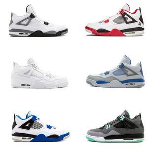 Nike Air Jordan 4 Bred 2019 What The Basketball Shoes 30th Anniversary Laser Silt Red Splatter Singles Day Lightning Pure Money Oreo Men 4 Sneakers 40-47