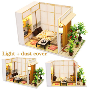 DIY Japanese Style Doll House Miniature DIY Dollhouse With Furnitures Futrue Space Wooden House 3d Miniaturas Toys for Kids Gift LJ200909