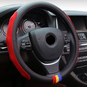 Car-Styling M Microfiber PU Leather Steering Wheel Cover Set For X1 X3 X5 X6 E21 E30 E36 E46 E90 E91 E92 E93 F30 3 Series