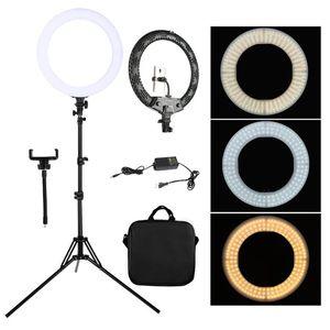 플래시 헤드 워킹웨이 18 인치 Selfie 링 램프 첨가 조명 PO 스튜디오 / YouTube / 비디오를위한 삼각대 스탠드 브래킷이있는 LED 빛