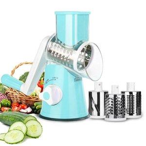 3-in-1 Multifunctional Circular Slicer Manual Vegetable Cutter Grater Vegetable Screw Machine Potato Slicer Kitchen Gadget