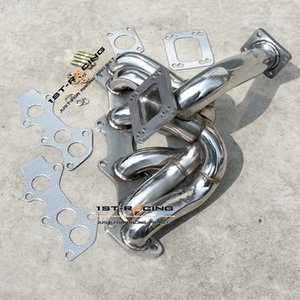 Turbocharger 1JZ Exhaust Manifold Header Stainless Steel For 89 93 Toyota Supra JZX100 VVTI