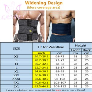 LANFEI Hommes Hot Body Shaper néoprène taille formateur Tummy contrôle Sauna Belt Minceur Fitness Sangle Sweat amincissants pour Fat Burner
