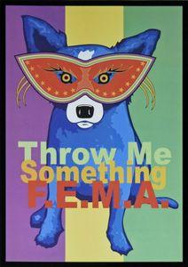 Джордж Rodrigue голубой собаки Бросьте мне что-то FEMA Home Decor расписанную HD Печать Картина маслом на холсте Wall Art Canvas картинки 200912