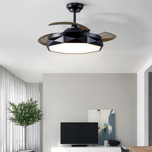 36inch 42 inch Ceiling Fans Light Invisible Modern Ceiling Fan with Remote Control Dimmable Inlcuded 220V 110V Black White