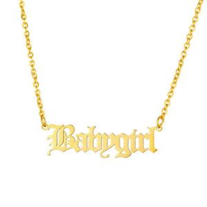 Tiny Baby-Halsband Edelstahl-Kette Babygirl Charm Halsketten-Anhänger-Gold füllte Kolye Beste Freunde Geschenk Schmuck